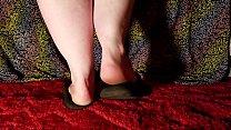 BBW Shows off her Filthy Feet