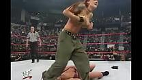 WWE Diva Trish Stratus Stripped To Bra & Panties ( Raw 10-23-2000 )