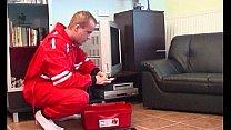 Bokep TV Repairman Seduced By Busty Blonde Horny Grandma