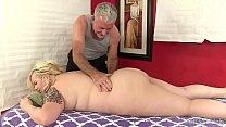 Blonde BBW massaged and fucked