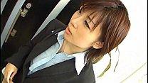 Yukino undresses office suit while sucking