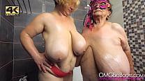 big busty amateur lesbians oil tits [4K]