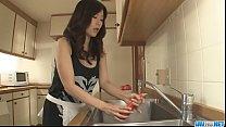 Hot japan girl Manami Komukai lick a cock