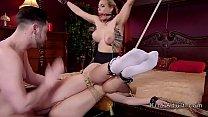 Big cock master Seth Gamble anal fucks blonde slaves