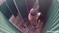 Fat redhead mature spied by hidden camera