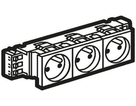Buy Legrand White 3 Gang Power Socket, 16A, Surface Mount