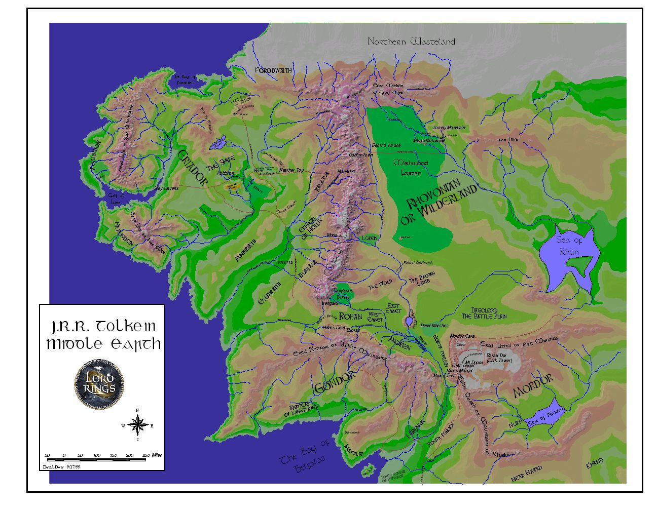 Middle Earth Shire Maps