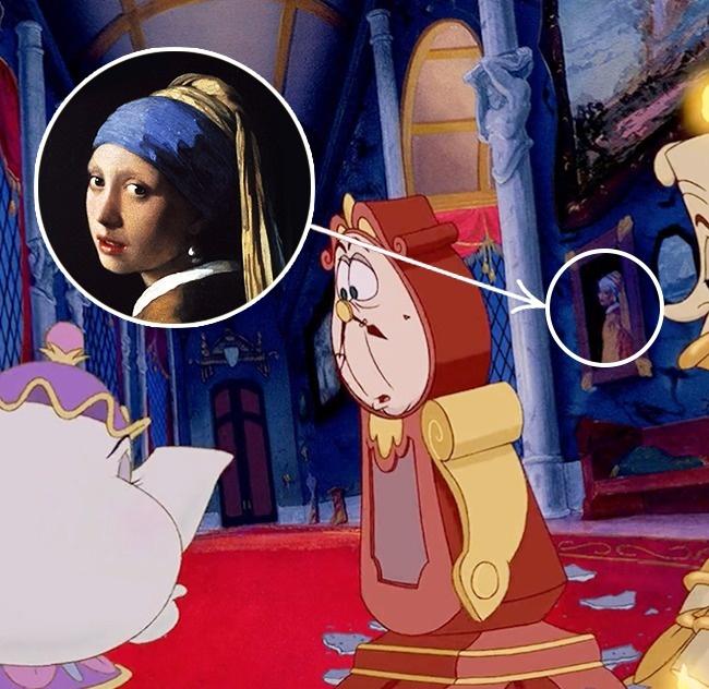 Бонус: вы можете увидеть картину «Девушка с жемчужной сережкой» Яна Вермеера в мультфильме «Красавица и чудовище».