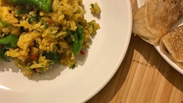 Капуста брокколи с острым рисом