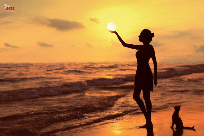 Красота заката на море. Автор фотографии: G. BUER.