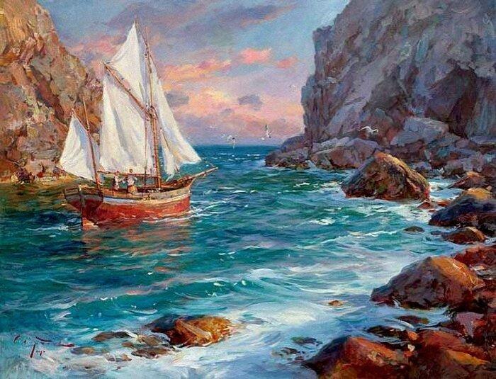 Сергей Свиридов. Море, чайки, паруса...