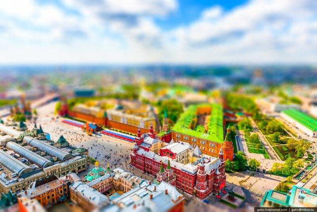 Игрушечная Россия   Toy like Russia (64 фотографии с эффектом миниатюры)