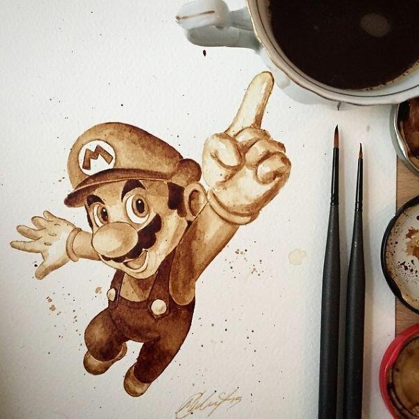 Нарисованные кофе. Мария Аристейду