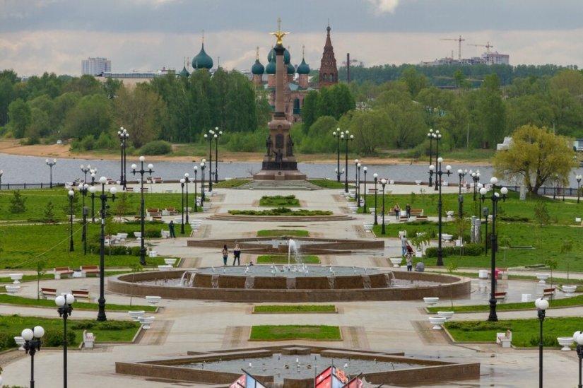 Стрелка и храмовый комплекс в Коровниках, Ярославль