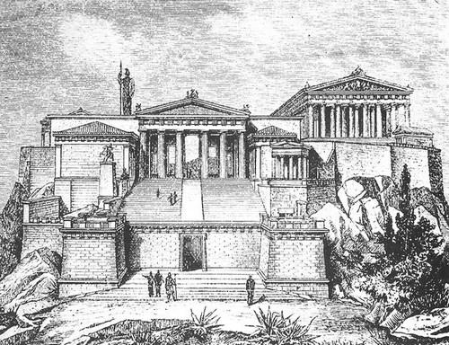 Афинский акрополь. Реконструкция.