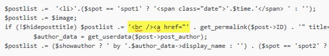 Если заголовок в сайдбаре смещается к картинке (исправление плагина Advanced Most Recent Posts Mod)