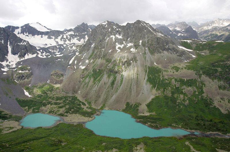 Средние и Нижние Мультинские озера. Река Катунь, Алтайский край