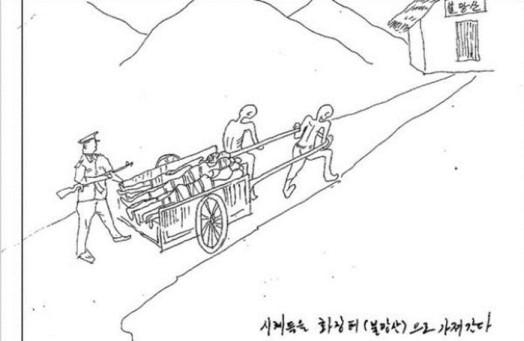 Пытки заключенных в корейской тюрьме. Рисунки сбежавшего