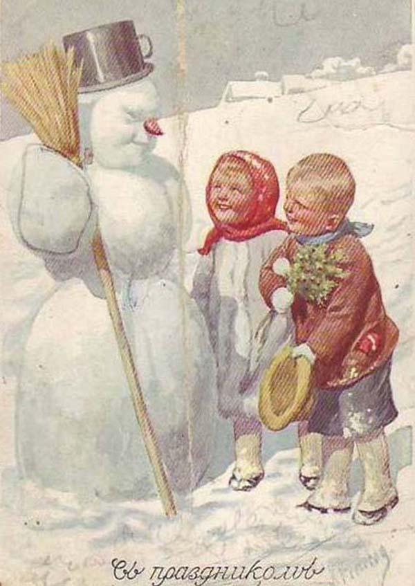 Картинки, старинные новогодние и рождественские открытки