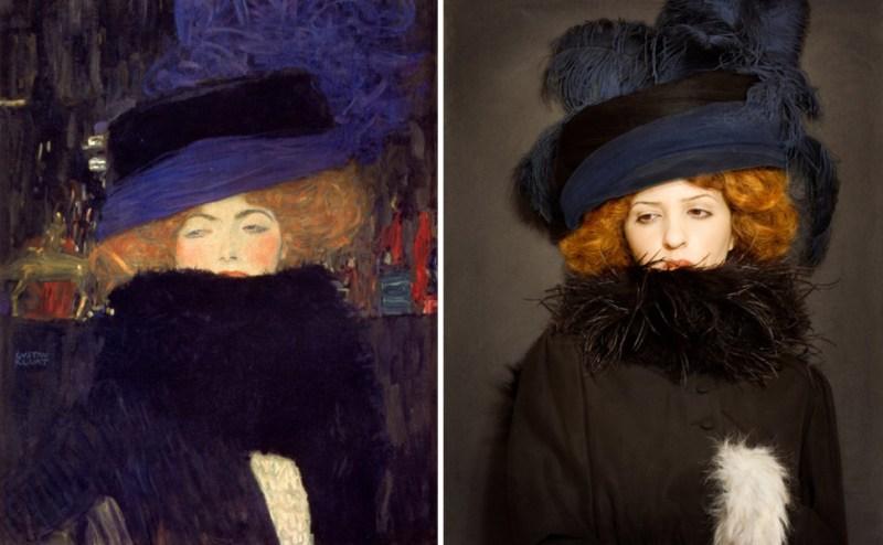 «Дама в шляпе и боа из перьев», Густав Климт, 1909 год.