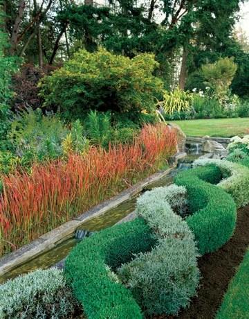 сад с водоемом
