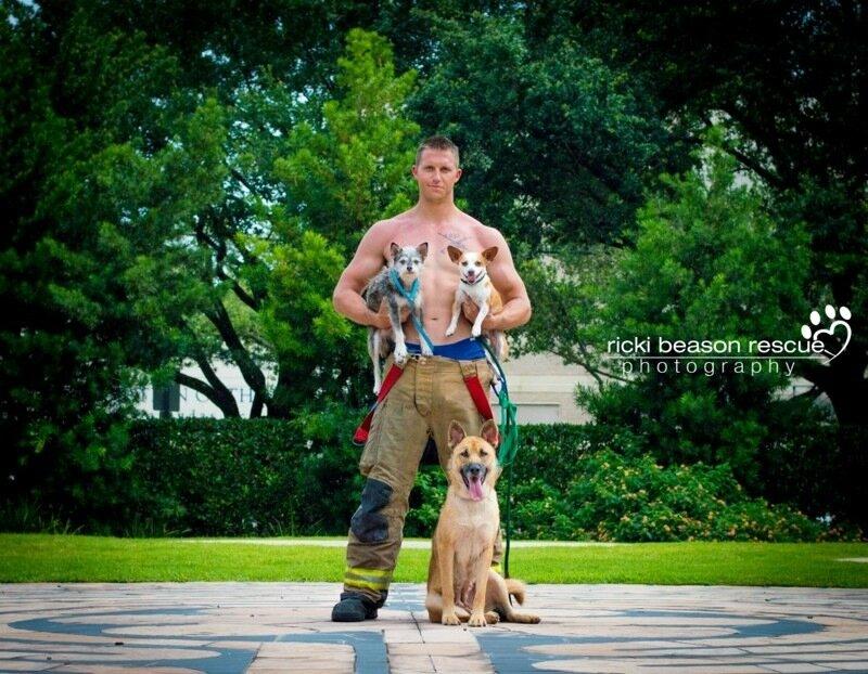 Горячие обнаженные парни из Техаса обожают бездомных собака (фото)