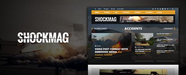 Shockmag - Tema de WordPress de revista optimizada para anuncios con potente sistema de publicidad - 1