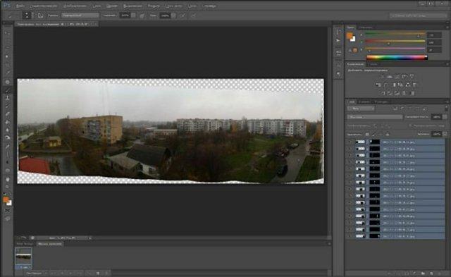 Собираем панораму в Photoshop