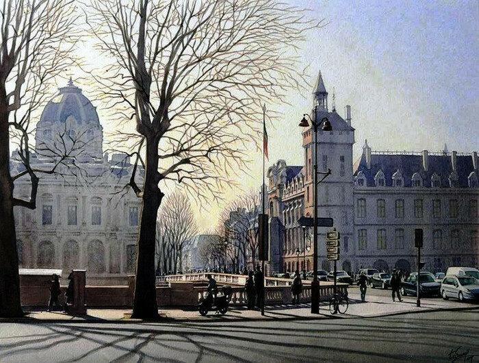 Утро в Париже. Автор: Thierry Duval.