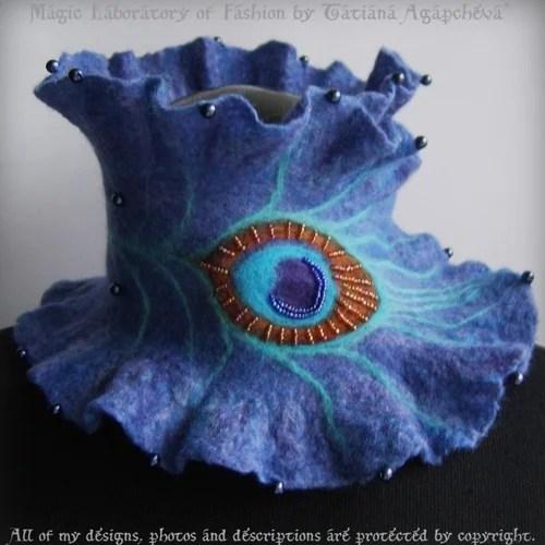 накидки и шарфы из фетра
