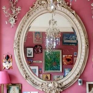 розовая эклектика интерьер декорироание