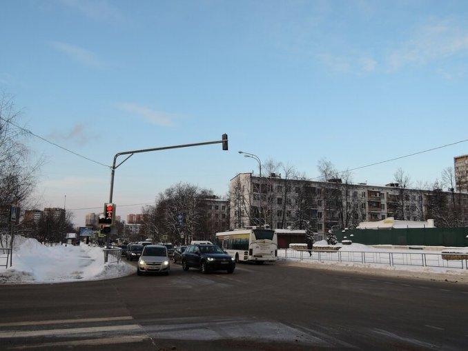 Одинцово. Перекресток улицы Маршала Жукова и улицы Маршала Неделина