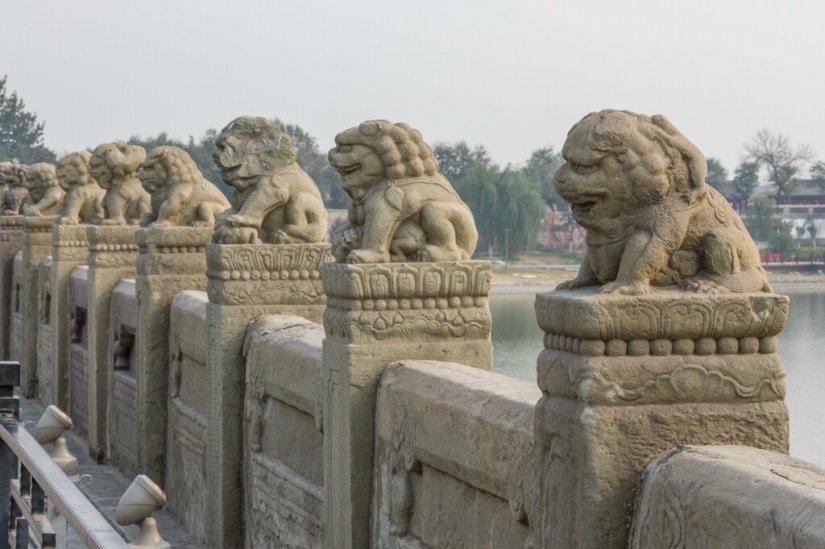 Львы моста Лугоу, мост Марко Поло