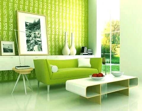 зеленые оттенки в интерьере