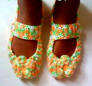 вязаные крючком туфли