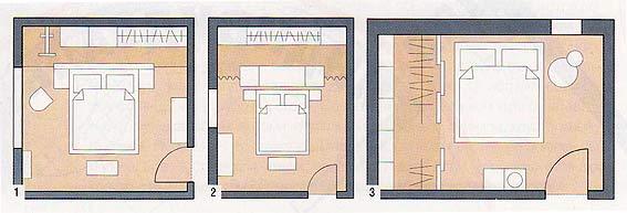 планы перепланировка спальни варианты