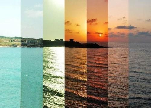 Граница между утром, днем и вечером