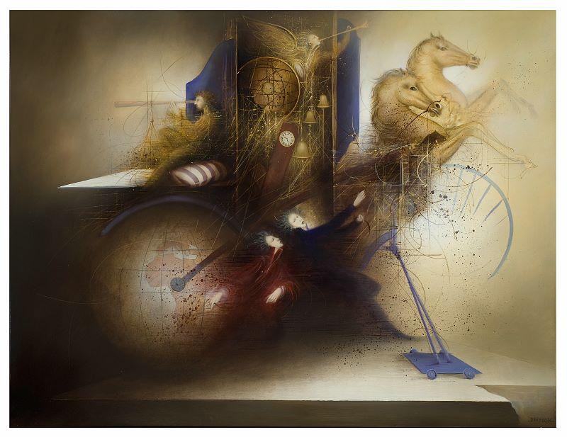 Живописец Jean-Claude Dresse. Многослойные поэтичные миры