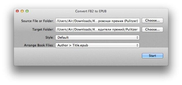 fb2 epub Mac OS