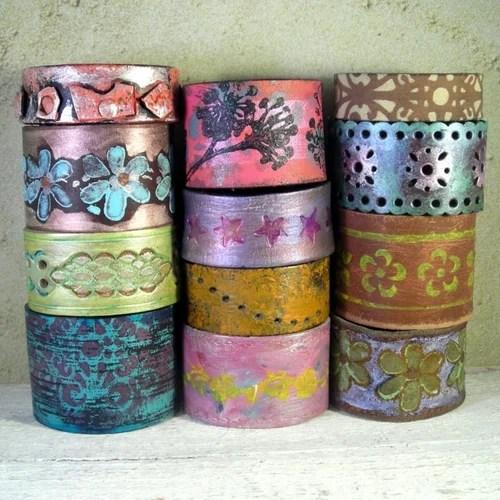 браслеты хендмейд роспись акрилом