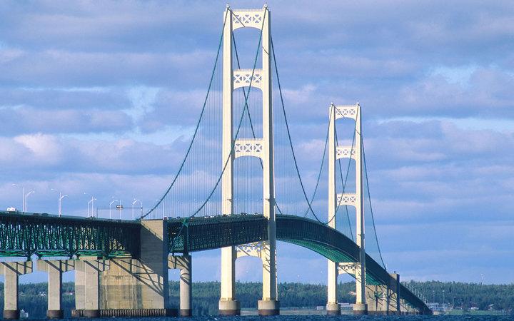 Мост Макинак, Мичиган, США.
