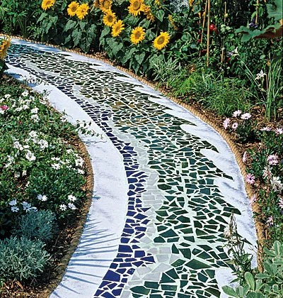 дорожка в саду дизайн плитка