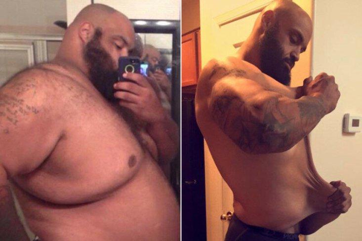 Пешие прогулки до магазина помогли мужчине скинуть 150 кг!