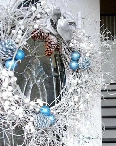 рождественский венок своими руками мастер класс