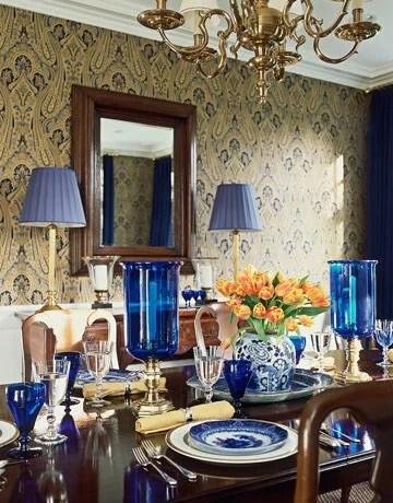 интерьер дома в голубых тонах