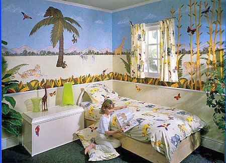 тема джунглей в детской комнате