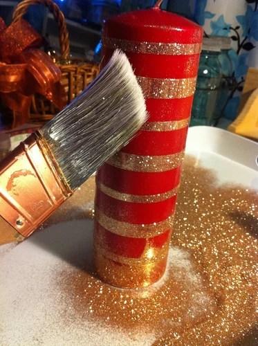 Новогодний декор своими руками - украшаем свечи