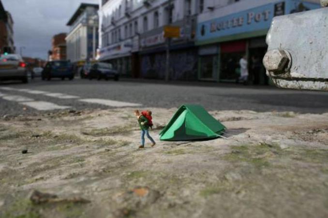 Slinkachu: приключения маленьких людей в большом городе