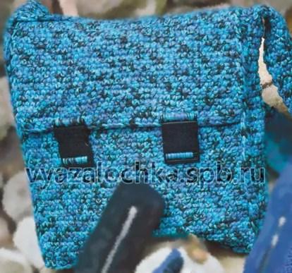 сумка-портфель крючком