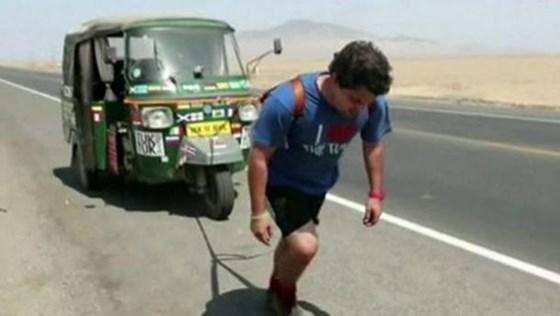 Кругосветное путешествие на мотороллере совершили два учителя